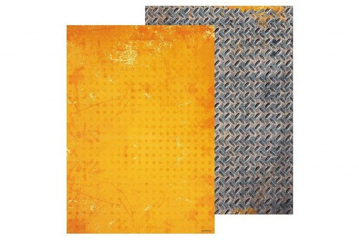 Double-Sided Patterned Paper n.256 Industrial 2.0 Studio Light A4 21x30cm 1sheet