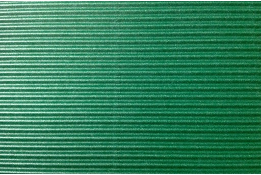 Corrugated Paper Dark Green 50x70cm 1 sheet