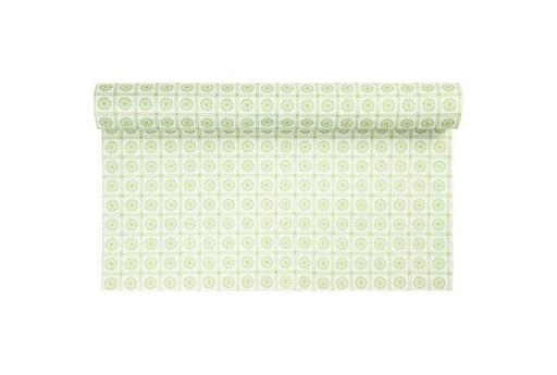 Pannolenci Feltro Decorato 1,5mm Bianco e Verde 45cm x 1mt