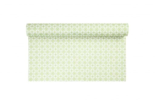 Patterned Soft Felt 1,5mm White and Green 45cm x 1mt