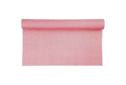 Patterned Soft Felt 1,5mm Red And White Squares 45cm x 1mt