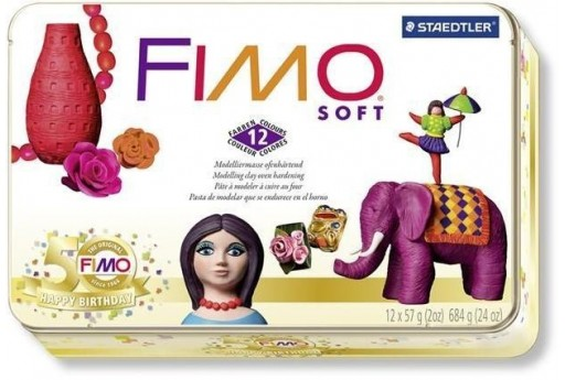 Fimo Soft Kit 12 Colors Collection Box