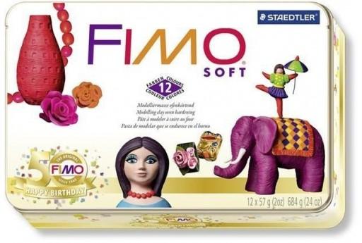 Kit Fimo Soft 12 Colori In Scatola da Collezione