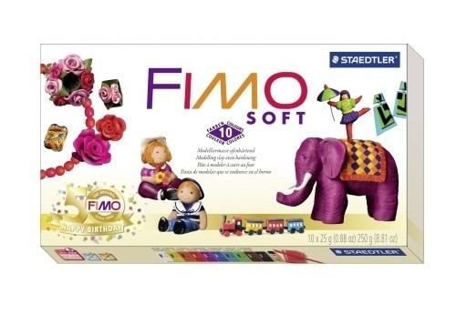 Fimo Soft Kit 10 Colors + Tools