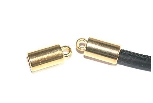 End Caps Gold 17x8mm - Hole 5mm - 2pcs