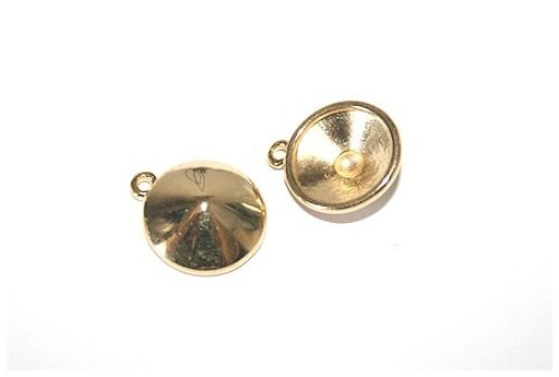 Gold Setting for Rivoli Swarovski 12mm - 2pcs