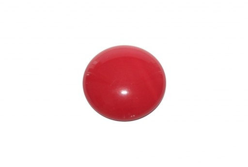 Cabochon Par Puca® Opaque Coral Red 25mm - 1pcs
