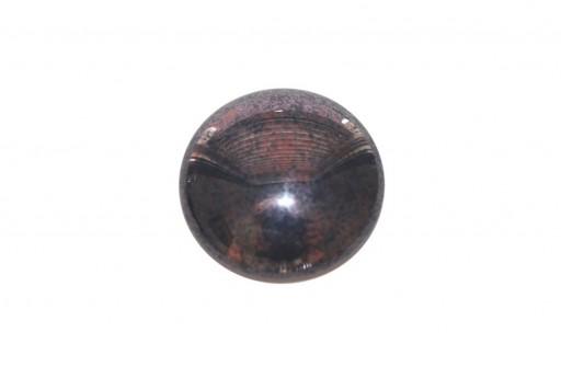 Cabochon Par Puca® Opaque Dark Amethyst Silver 25mm