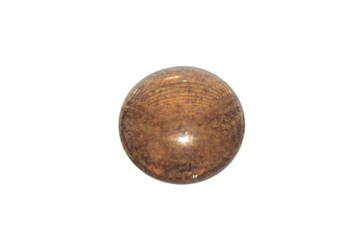 Cabochon Par Puca® Smoked Topaz Bronze 25mm - 1pcs