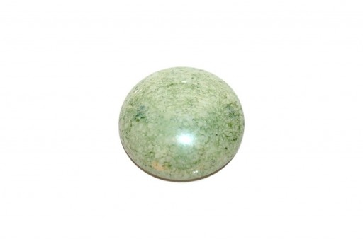 Cabochon Par Puca® Opaque White Green Luster 25mm - 1pcs