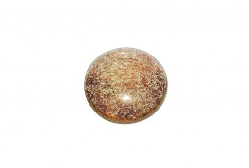 Cabochon Par Puca® Crystal Green Bronze 25mm - 1pcs