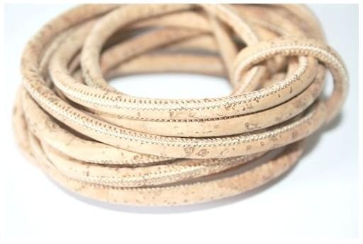 Cordoncino di Sughero Tondo Naturale 5mm - 50cm