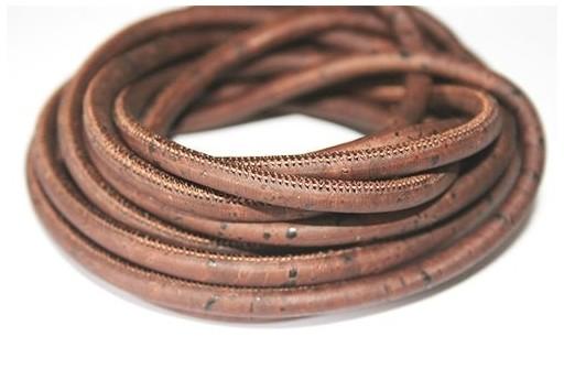 Cordoncino di Sughero Tondo Marrone 5mm - 50cm