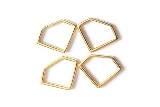 Componente Metallo Oro Forma Geometrica Diamante 19x14mm - 2pz