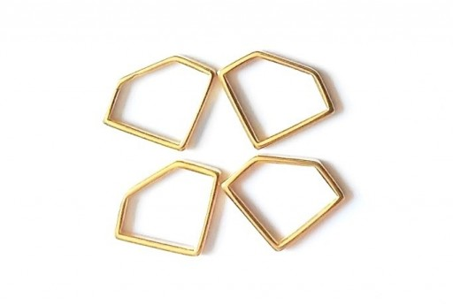 Diamond Wireframe Gold 19x14mm - 2pcs