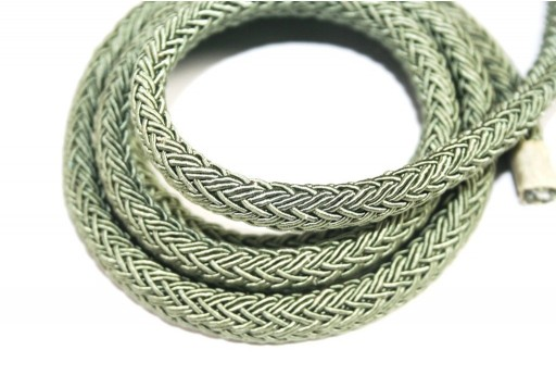 Regaliz Cord Light Green 10x8mm - 50cm