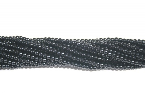 Perle Cerate Vetro Nero 3mm - 130pz