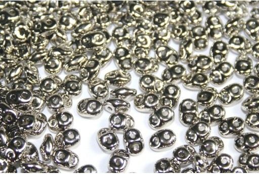 Superduo Beads Nickel Plated 5x2,5mm - 10gr