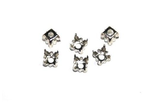Platinum Setting for Chaton 1088 6x6mm - 14pcs