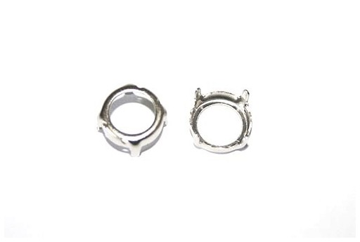 Platinum Setting for Rivoli 12mm - 4pcs