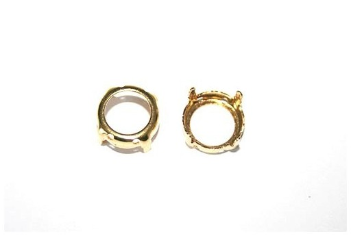 Gold Setting for Rivoli 12mm - 4pcs