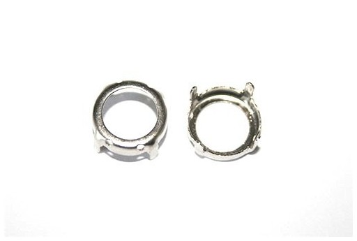 Platinum Setting for Rivoli 14mm - 4pcs