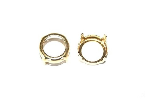 Gold Setting for Rivoli 14mm - 4pcs