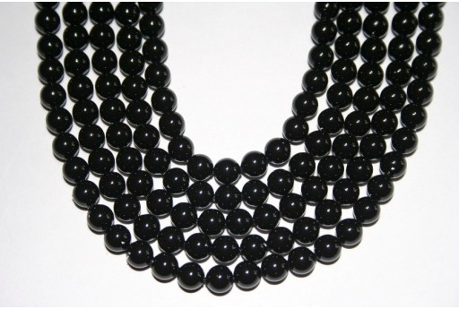 Swarovski Pearls 5810 Mystic Black 6mm - 12pcs