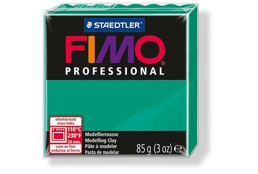 Fimo Professional Polymer Clay 85g Pure Green Col.500