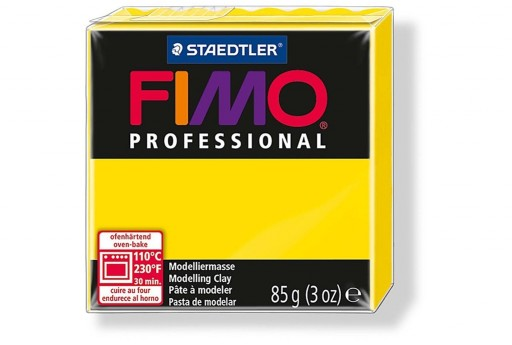 Fimo Professional Polymer Clay 85g Yellow Col.100