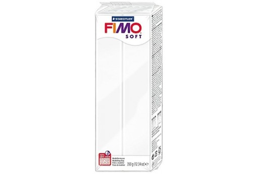 Fimo Soft Polymer Clay 350g White Col.0