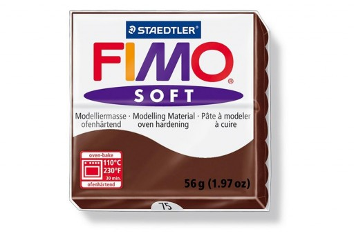 Fimo Soft Polymer Clay 56g Chocolate Col.75