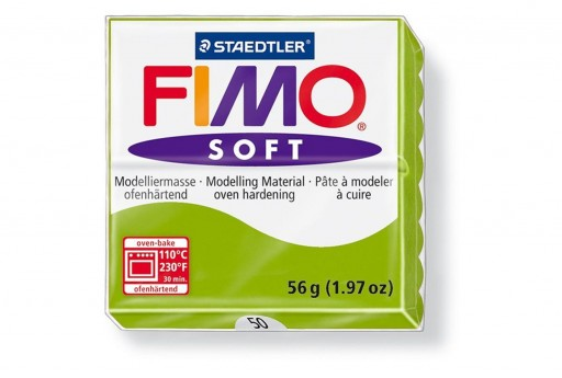 Fimo Soft Polymer Clay 56g Glimme Green Col.50