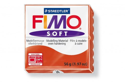 Pasta Fimo Soft 56 gr. Rosso Indiano Col.24