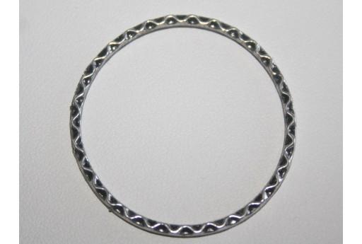 4 Cerchi Saldati Argento Tibetano Diametro 38,5mm TIB52