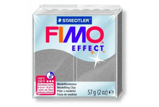 Fimo Effect Polymer Clay 57g Silver Pearl