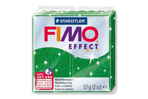 Fimo Effect Polymer Clay 56g Glitter Green Col.502