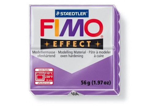 Fimo Effect Polymer Clay 56g Transparent Lila Col.604