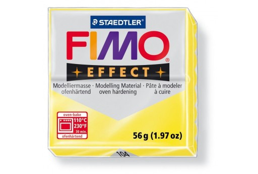 Fimo Effect Polymer Clay 56g Translucent Yellow Col.104