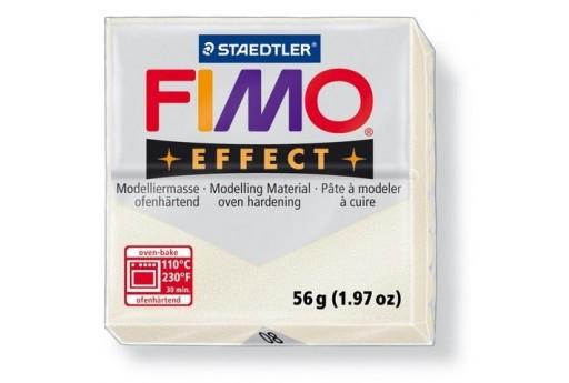 Pasta Fimo Effect 56 gr. Bianco Perlato Metallico Col.08