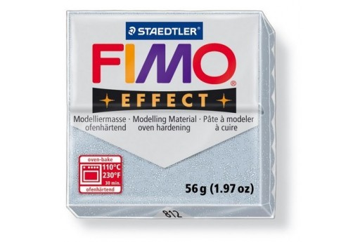 Pasta Fimo Effect 56 gr. Argento Glitter Col.812