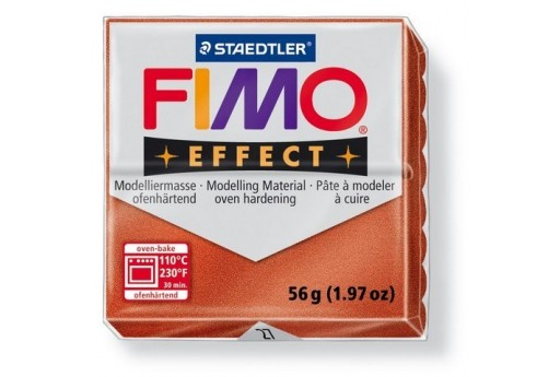 Fimo Effect Polymer Clay 56g Metallic Copper Col.27