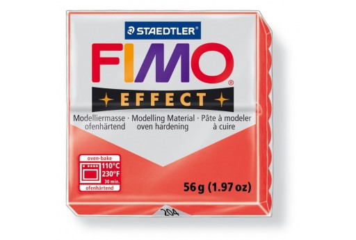 Fimo Effect Polymer Clay 56g Translucent Red Col.204