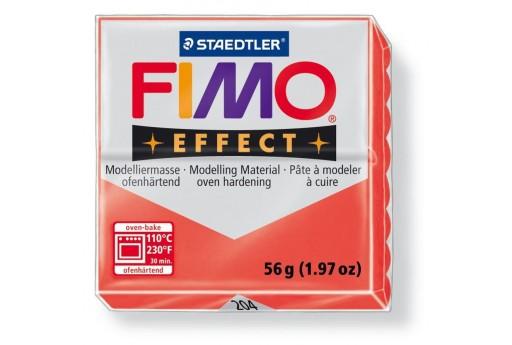 Pasta Fimo Effect 56 gr. Rosso Traslucido Col.204