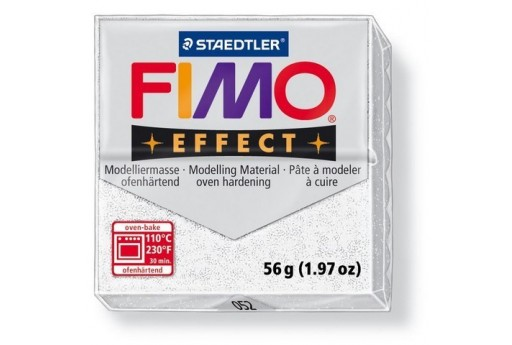 Fimo Effect Polymer Clay 56g Glitter White Col.052