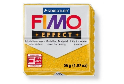 Fimo Effect Polymer Clay 56g Glitter Gold Col.112