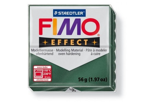 Fimo Effect Polymer Clay 56g Glitter Opal Green Col.58