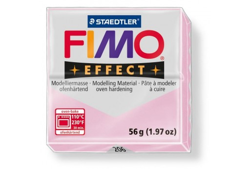 Fimo Effect Polymer Clay 56g Gemstone Colour Pink Quartz Col.206