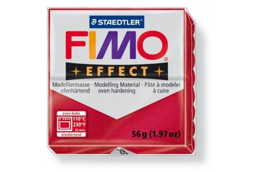 Fimo Effect Polymer Clay 56g Metallic Ruby Red Col.28