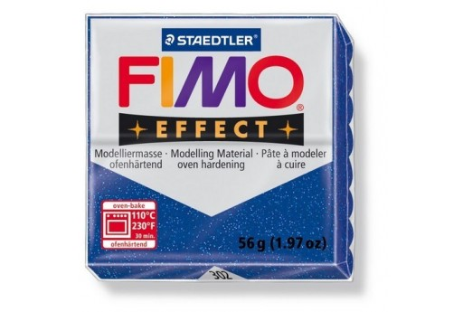 Fimo Effect Polymer Clay 56g Glitter Blue Col.302
